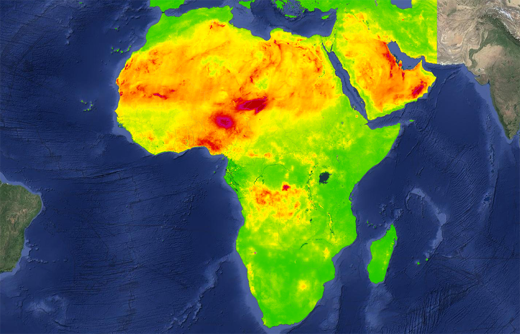 Near-Real-Time Satellite Estimates of Surface PM<sub>2.5</sub> Concentrations in Africa