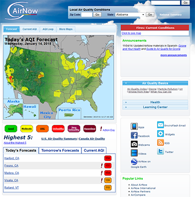 Development and Operation of the U.S. EPA's AirNow System