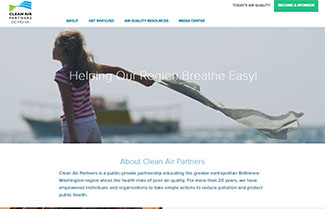 Development and Enhancement of the Clean Air Partners Air Quality Website