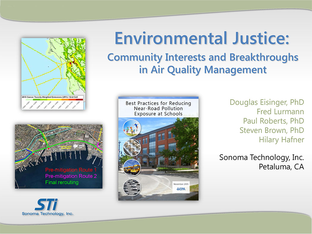 Environmental Justice: Community Interests and Breakthroughs in AQ Management (Discussion Package)