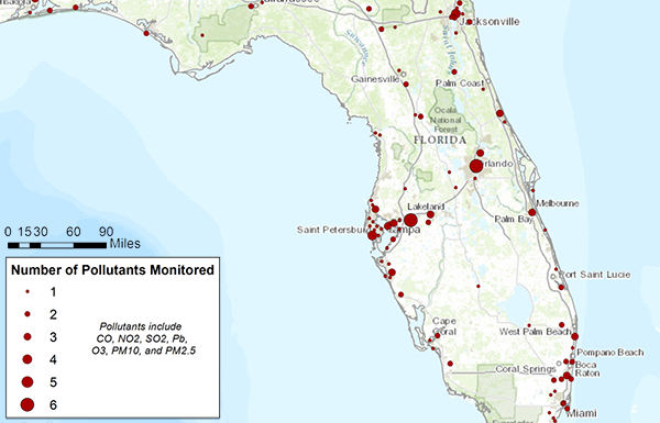 Florida Air Monitoring Network Assessment and Optimization