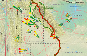 Visualization of Air Emissions and Surface Meteorology in Southwest Wyoming