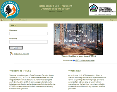 Development of the Interagency Fuels Treatment Decision Support System