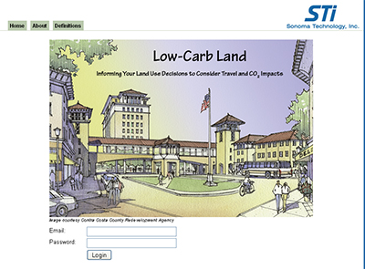Low-Carb Land: A User-Friendly Web Tool to Evaluate Travel and CO2 Impacts