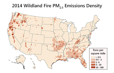 STI Estimates 1.7M Tons of PM2.5 from 2014 U.S. Wild and Prescribed Fires