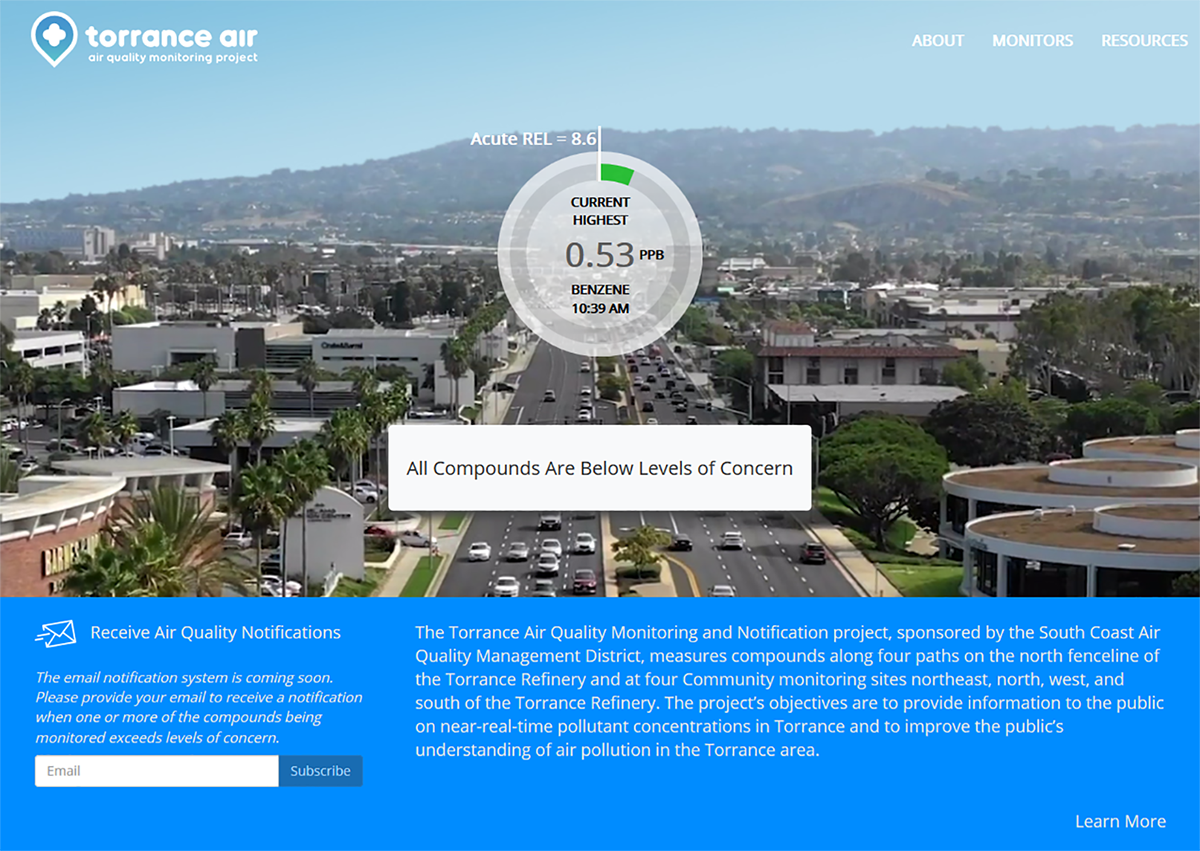 Torrance Refinery Air Quality Monitoring Project